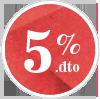 5% de descuento
